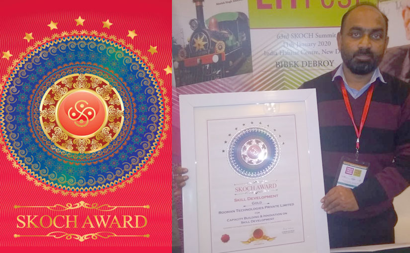 Rooman Technologies wins SKOCH Gold award in Skill Development Category